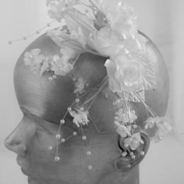 Bouquet fleurs coiffage
