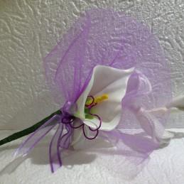 Fleur Arum violet dragées mariage