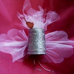 Ballotins de dragées papillon en tissu