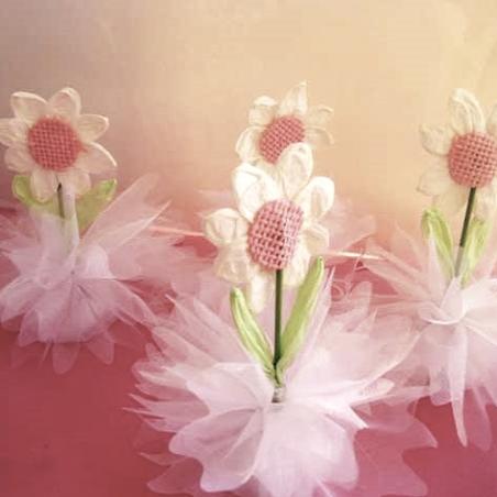 Fleur printemps papier avec dragées