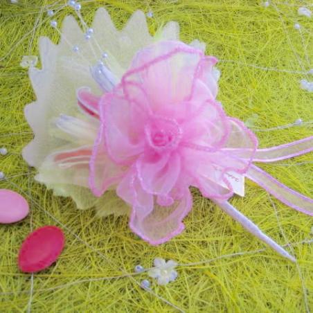 Ballotin Rose porcelaine porte dragées