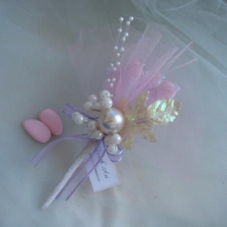 Ballotins decors perles et fleur