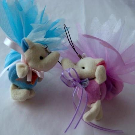 Petit éléphant bleu ou rose