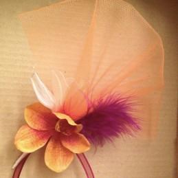 Orchidée plume porte dragée