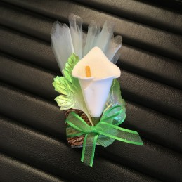 Bonbonnière raphia décor mini calla