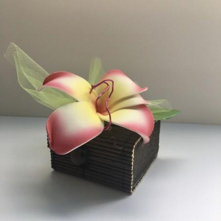 Boite bambou fleur frangipani
